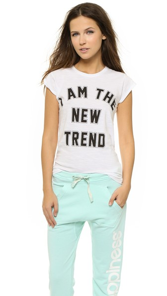 Happiness I Am The New Trend Tee in White Graphic Statement T-Shirt