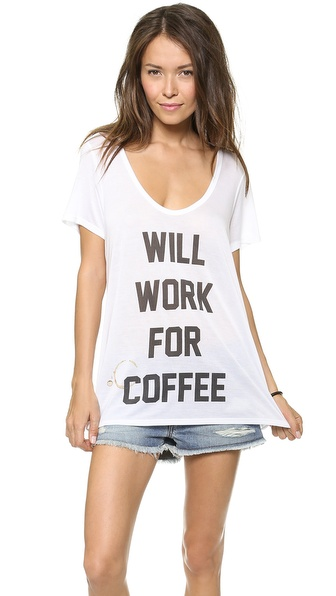 The Laundry Room Will Work For Coffee Tee in White