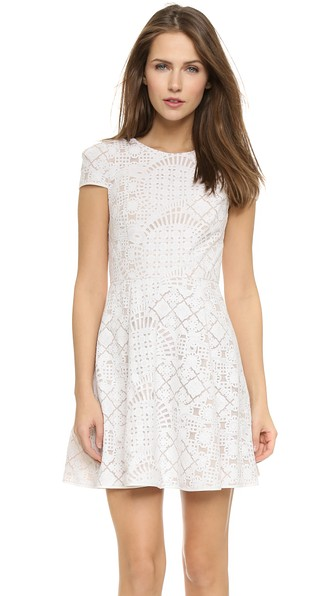 4.collective Lilou Mosaic Flirty Dress in Ivory. Shopbop
