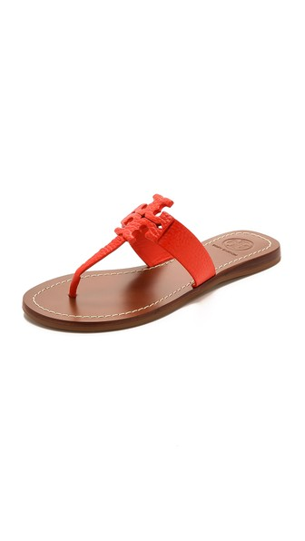 Tory Burch Moore Thong Sandals in Poppy Coral. Shopbop extra 25% sale