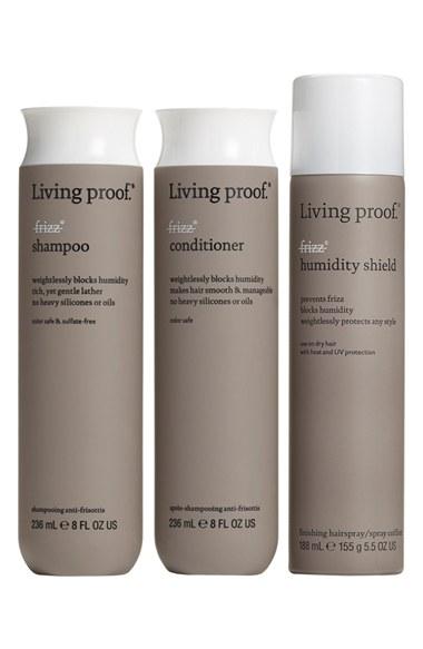 Living Proof 'No Frizz' Set ($70 Value) No Frizz Shampoo, No Frizz Conditioner, No Frizz Humidity Shield. Nordstrom Anniversary Sale