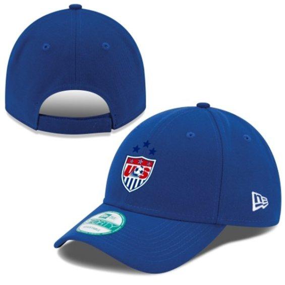 New Era US Women's Soccer Team Royal 2015 Champions 3-Star 9FORTY Adjustable Hat
