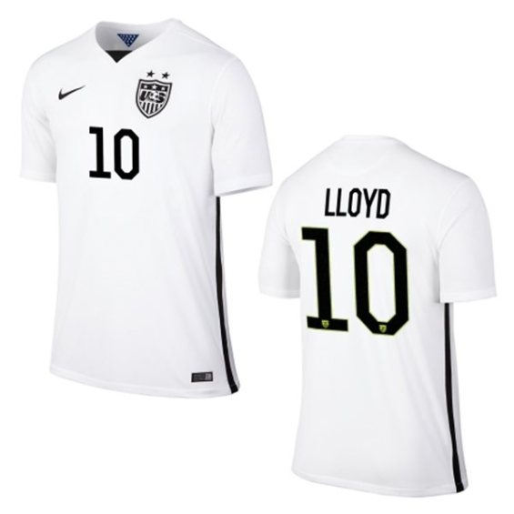 Nike Carli Lloyd USA Soccer Youth White Home Replica Jersey
