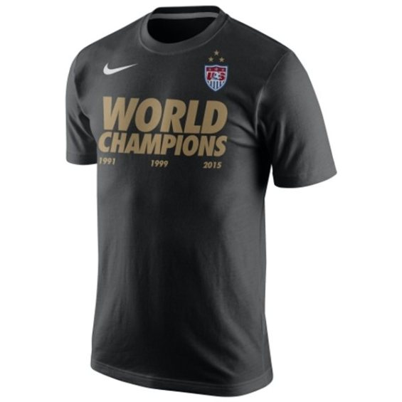 Nike US Women's Soccer Team Black 2015 World Champions Dri-FIT T-Shirt