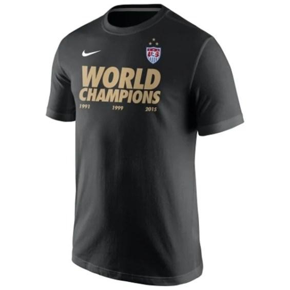 Nike US Women's Soccer Team Youth Black 2015 World Champions T-Shirt