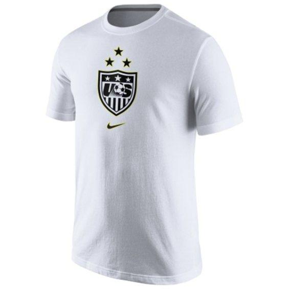 Nike US Women's Soccer Team Youth White 2015 World Champions 3-Star Crest Dri-Blend T-Shirt