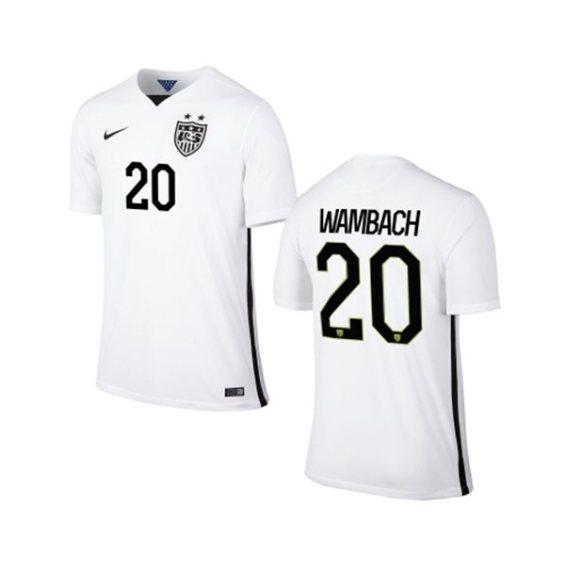 Nike USA Abby Wambach Youth Home Replica Jersey - White