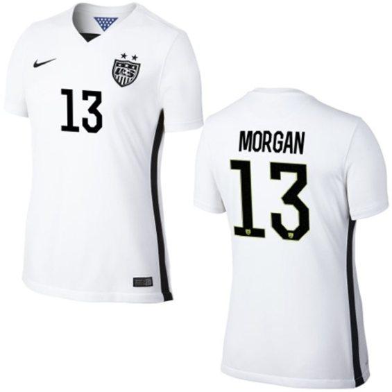 Nike USA Alex Morgan Womens Home Replica Jersey - White