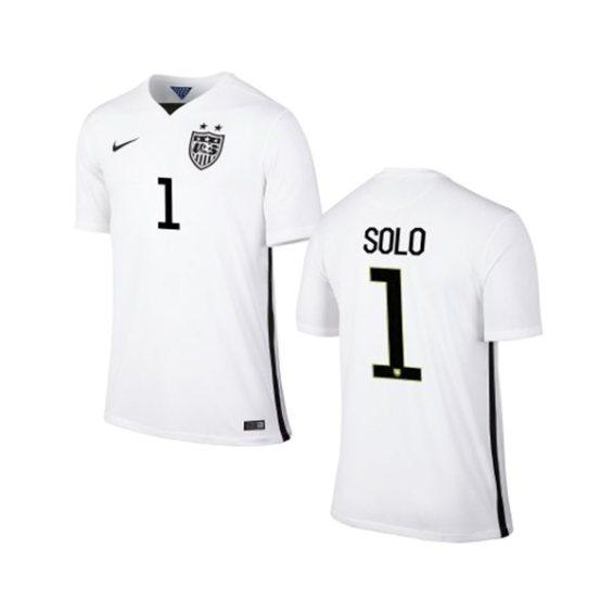 Nike USA Hope Solo Youth Home Replica Jersey - White