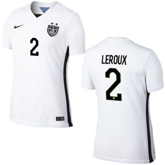 Nike USA Sydney Leroux Womens Home Replica Jersey - White