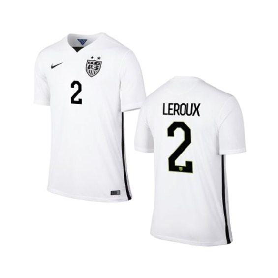 Nike USA Sydney Leroux Youth Home Replica Jersey - White
