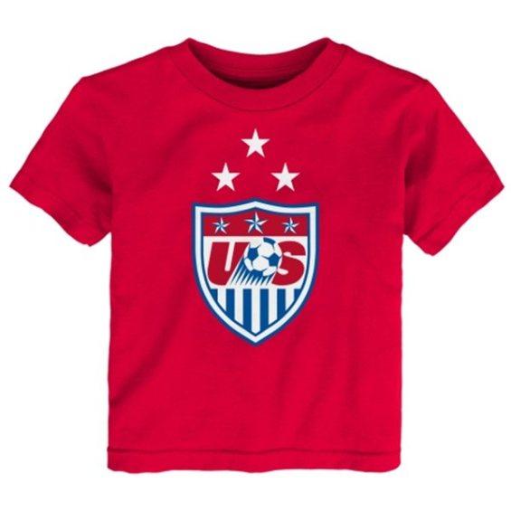 US Soccer Toddler Red 3-Star Crest T-Shirt