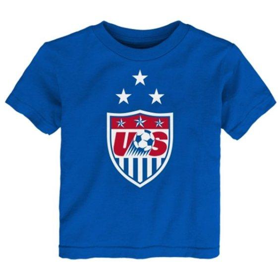US Soccer Toddler Royal 3-Star Crest T-Shirt