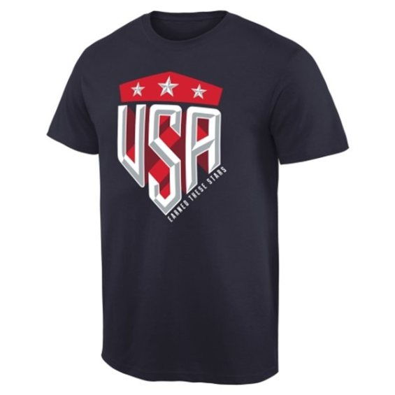 US Women's Soccer Team Navy 2015 World Champions 3-Star Crest T-Shirt for Men U.S. Women's Soccer FIFA World Cup Champions