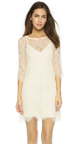 cupcakes and cashmere Marin Lace Dress in Antique Ivory