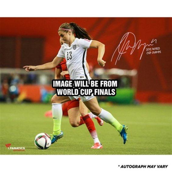 "Fanatics Authentic Alex Morgan US Women's Soccer Team 2015 World Champions Autographed 16"" x 20"" Final Photograph with 2015 World Champs Inscription"
