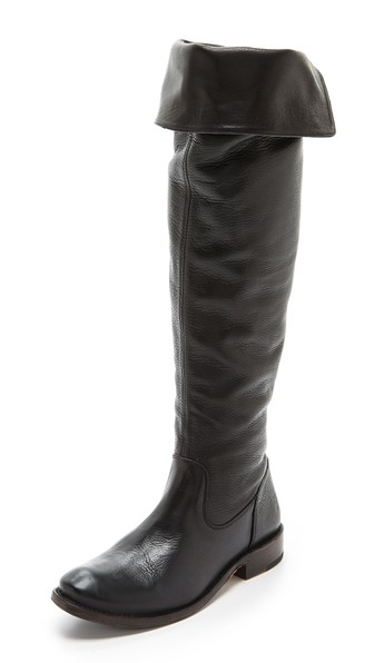 Frye Shirley Over the Knee Riding Boots in Black