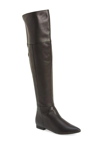 Kristin Cavallari 'York' Over the Knee Boot (Women) in Black Leather
