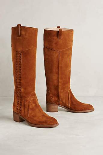 Miss Albright Cass Knee Boots by Miss Albright in Cognac