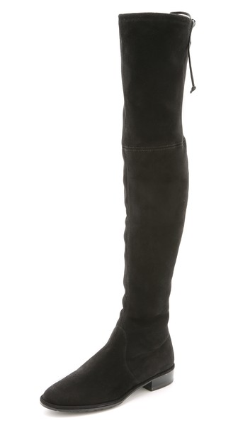 Stuart Weitzman Lowland Over the Knee Boots in Londra, Topo or Black