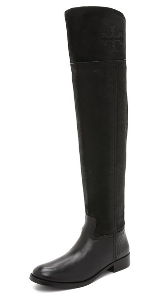 Tory Burch Simone Over the Knee Boots in Black