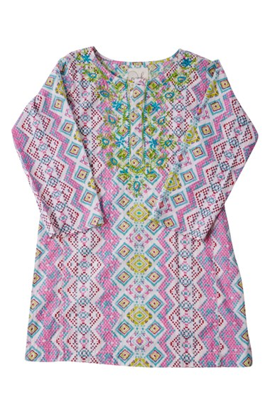 Peek 'Kenzi Khurti' Geo Print Dress (Toddler Girls, Little Girls & Big Girls) in Lime