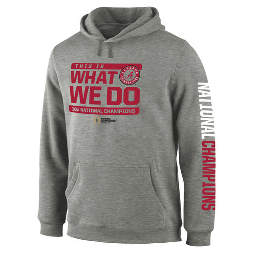 This Is What We Do ALABAMA CRIMSON TIDE GRAY COLLEGE FOOTBALL PLAYOFF 2015 NATIONAL CHAMPIONS WIDE RECEIVER HOODIE