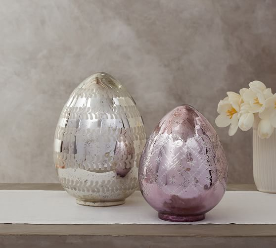 Pottery Barn LIT ETCHED MERCURY EGGS