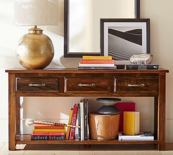 Pottery Barn BOWRY RECLAIMED WOOD CONSOLE TABLE