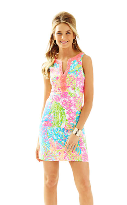 Lilly Pulitzer RYDER SHIFT DRESS Multi Lovers Coral