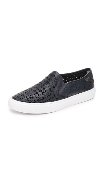Tory Burch Lennon Perforated Slip On Sneakers Tory Navy Shopbop Spring Sale
