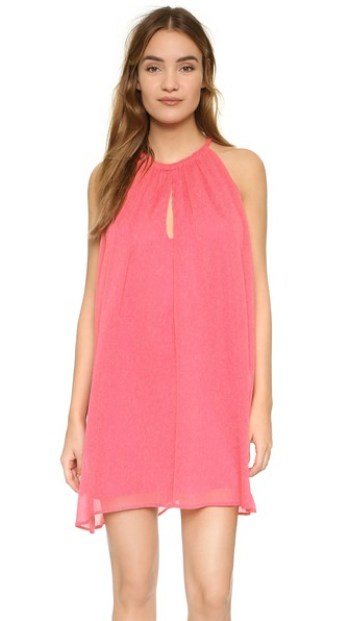 cupcakes and cashmere Sonoma Trapeze Dress flamingo pink trapeze dresses for easter