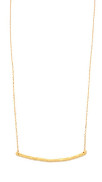 Gorjana Taner Bar Necklace Gold Shopbop friends and family sale