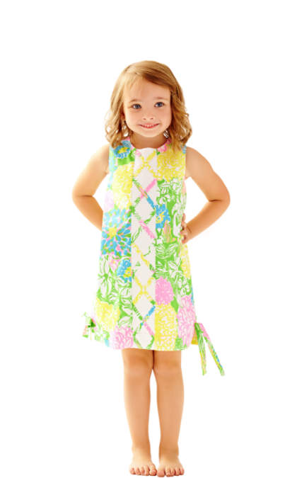 Lilly Pulitzer GIRLS LITTLE LILLY CLASSIC SHIFT DRESS Multi Hibiscus Stroll Mother Daughter Matching Outfits Dresses