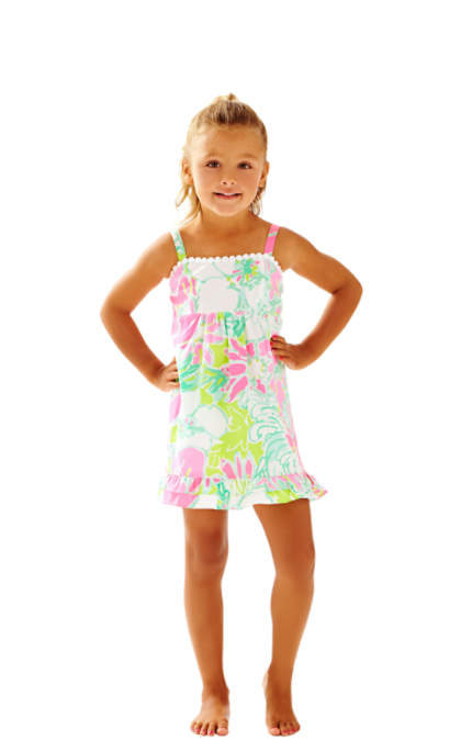Lilly Pulitzer Girls Fifi Dress Flamingo Pink Dont Give A Cluck Mother Daughter Matching Outfits