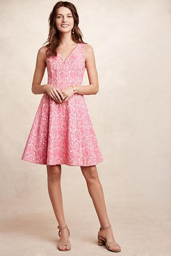 Maeve Claribel Dress Pink fit and flare dresses kentucky derby party