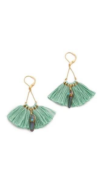 Shashi Celeste Tassel Earrings Gold Amethyst Shopbop friends and family sale