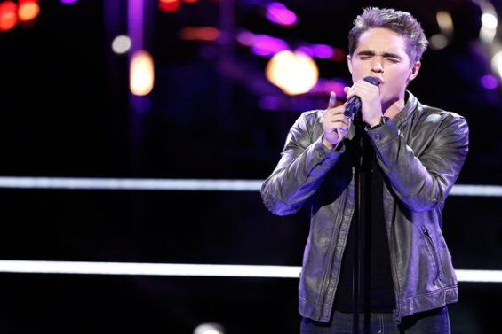 """Watch The Voice Season 10 Episode 12 The Knockouts Night Three: See Trey O'Dell of Team Christina Aguilera perform OneRepublic's hit song """"I Lived"""" on Monday, April 4th."""