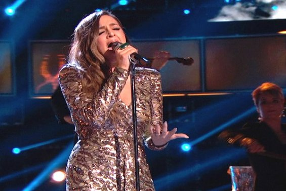 """Watch The Voice Season 10 Live Finale, Part 1 Episode 27: See Alisan Porter of Team Christina Aguilera sing Barbra Streisand's hit song """"Somewhere"""" on Monday, May 23, 2016."""