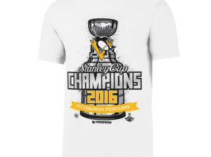 '47 Pittsburgh Penguins White 2016 Stanley Cup Champions Locker Room Flanker T-Shirt
