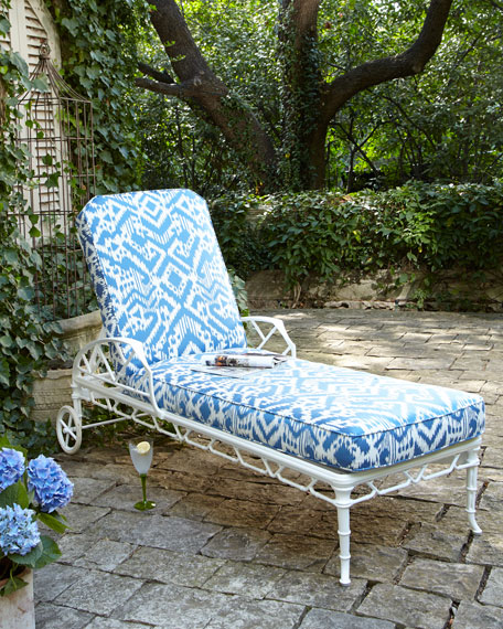 Brown Jordan Calcutta Outdoor Chaise White Horchow Friends and Family Sale