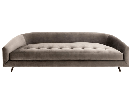 Curved Velvet Button Tufted Sofa Chairish
