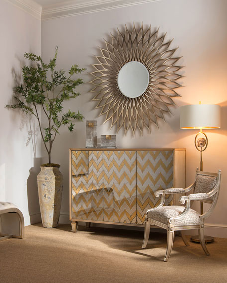 John-Richard Collection Jennings Eglomise Chevron Cabinet Horchow friends and family sale