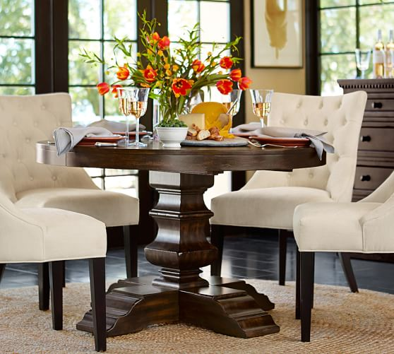 Pottery Barn BANKS EXTENDING PEDESTAL DINING TABLE pottery barn dining furniture sale 20% off