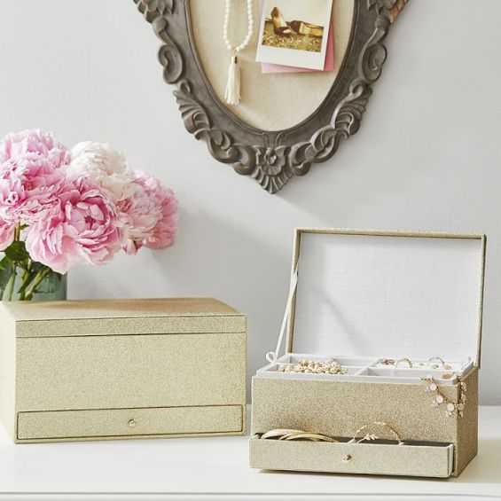 The Emily & Meritt Jewelry Boxes Gold Pottery Barn Teen emily & meritt for pottery barn collection home decor gift