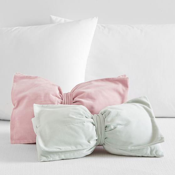 The Emily & Meritt Velvet Bow Pillows Pottery Barn Teen Collection emily & meritt for pottery barn collection