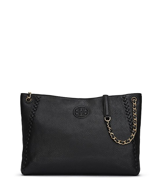 candace rose Tory Burch MARION CENTER-ZIP TOTE Black tory burch private sale candie anderson