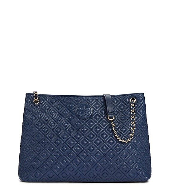 candace rose Tory Burch MARION QUILTED CENTER-ZIP TOTE Hudson Bay tory burch private sale candie anderson