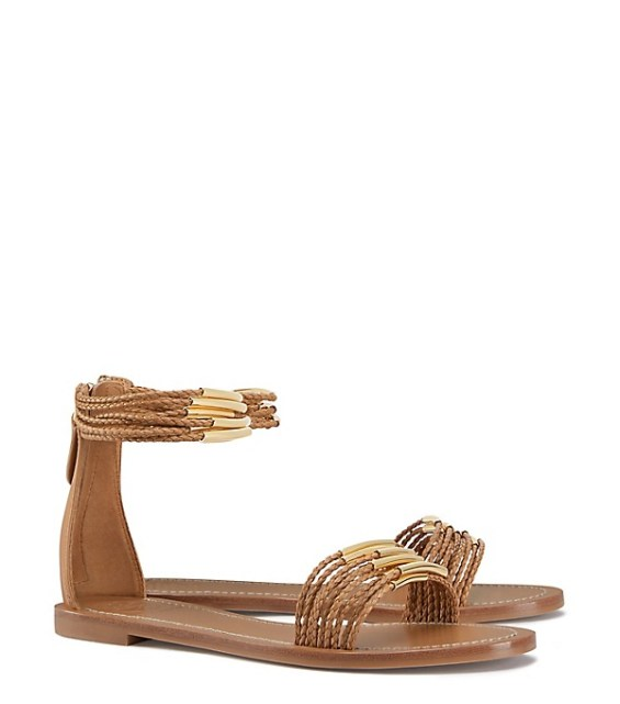 tory burch private sale Tory Burch MIGNON BRAIDED FLAT SANDAL Blond summer 2016 candace rose