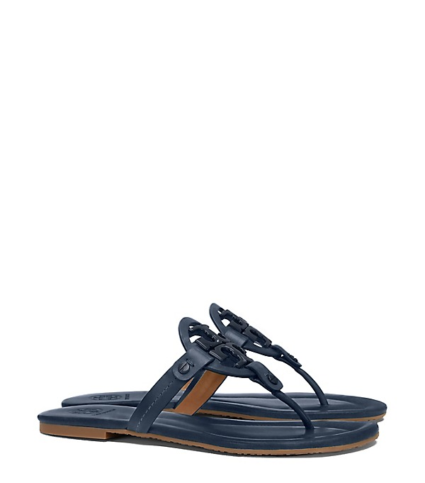 Tory Burch Private Sale Tory Burch MILLER SANDAL LEATHER Bright Navy candace rose anderson